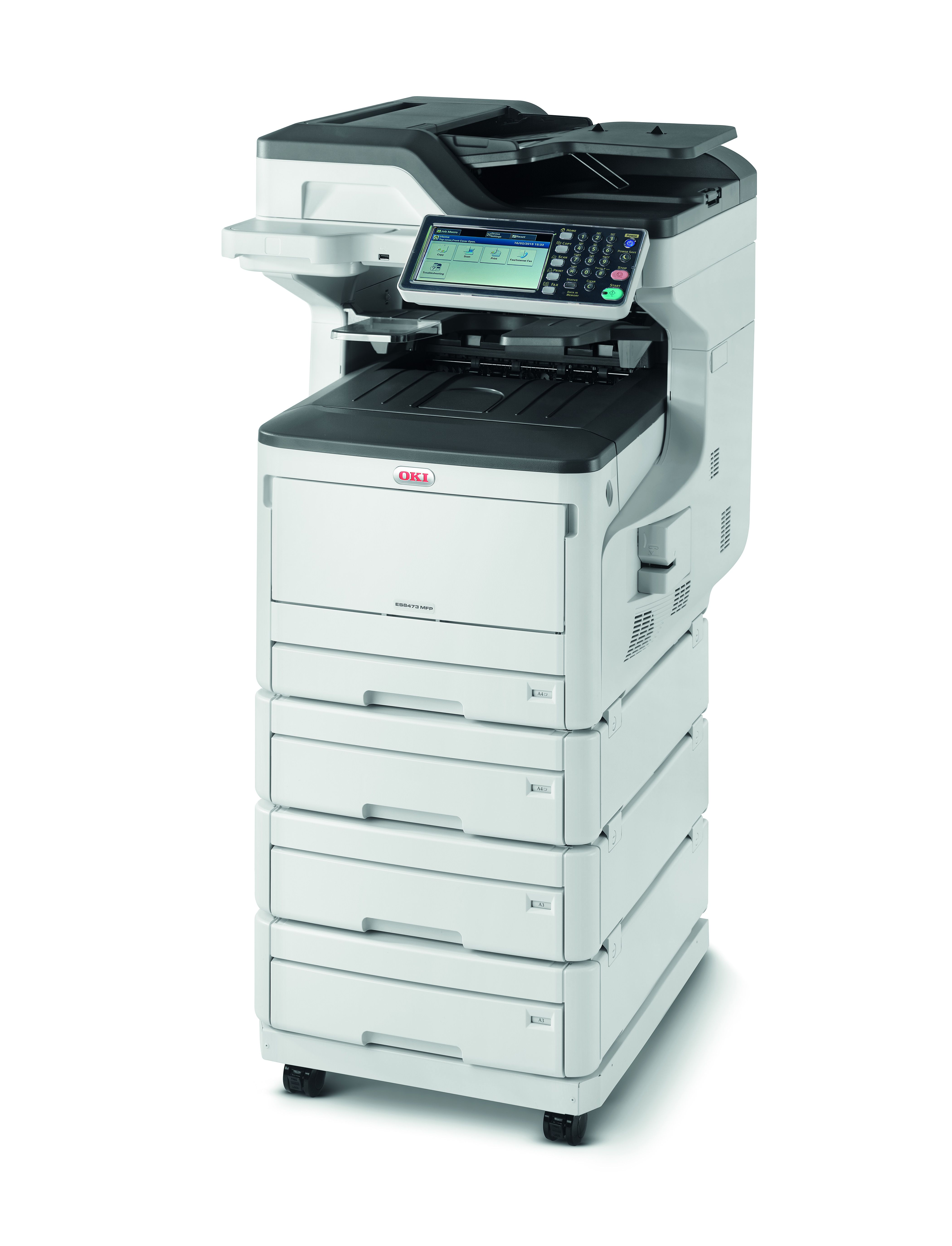 ES8473MFP 34 with 2nd 3rd 4th Tray Casterbase